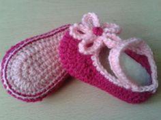 zapatos bebé crochet 0-3; 3-6; 6-9meses  lana,flor,plantilla crochet,ganchillo
