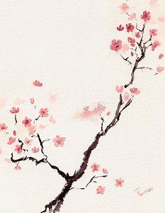 Cherry Blossom 3 Art Print by Rachel Dutton