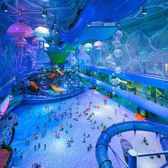 """Descubre Tu Mundo : Descubre el espectacular parque acuático """"cubo de agua"""" de Pekín"""