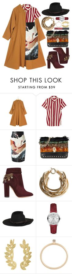 """""""Are weathering fires when I'm dancing"""" by karllydolly ❤ liked on Polyvore featuring RED Valentino, Valentino, Class Roberto Cavalli, Aquazzura, Rosantica, Burberry, Eddera and Astley Clarke"""