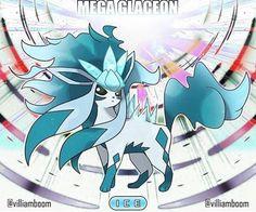 Mega Glaceon by Villiam Boom ( Pokemon Rare, Pokemon Oc, Pokemon Eeveelutions, Pokemon People, Eevee Evolutions, Pokemon Memes, Pokemon Fan Art, Cute Pokemon, Mega Evolution Pokemon