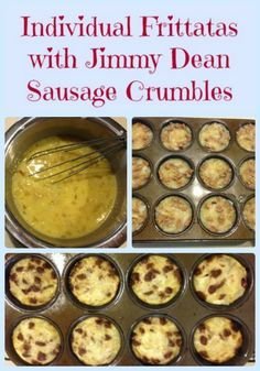 Individual Frittatas with Jimmy Dean Sausage Crumbles Recipe & $50 Target Gift Card #ad #JDCrumbles | Blog By DonnaBlog By Donna