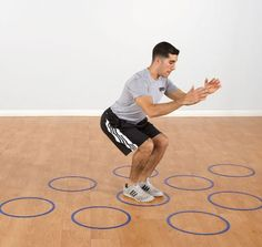 """18"""" plastic rings that lie flat on a hard surface and can be used to create drills that are fun and functional."""