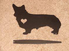 Welsh Corgi Pet Dog Memorial GARDEN STAKE Yard Lawn by artbyjack, $24.99