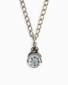Petite Compass Pendant Necklace.
