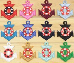 Ship Boat Anchor Navy Embroidered Patch Iron/Sew On Cloth Badge Sailor Applique