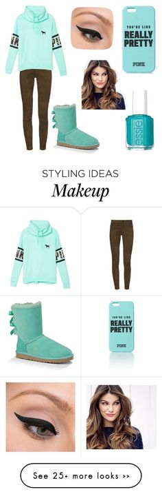 """""""Really Pretty"""" by taylor-loves-clothes on Polyvore featuring J Brand, Victoria's Secret PINK, UGG Australia, Essie, LORAC and ULTA"""