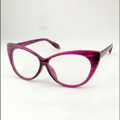"""PURPLE VINTAGE LOOK CAT EYE FRAME GLASSES. *NWT* PURPLE VINTAGE LOOK CAT EYE FRAME GLASSES. *NWT*  Shown here in Purple  GET THE RUNWAY LOOK FOR LESS!!!      Red, Yellow & Black ,Leopard , Purple, White, Red & black And Glossy Black also available .    Non - prescription. Light weight.  The perfect """"accessory"""" to spice up your everyday look!!! #SWOON ThinkVintageOnline  Accessories Sunglasses"""