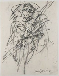 Willem De Kooning, Charcoal Drawing