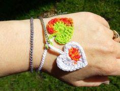 Crochet Heart Bracelet by © Elvira Jane