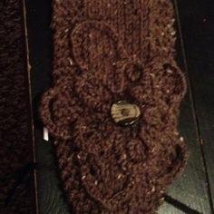 Crocheted flower on knitted headband!