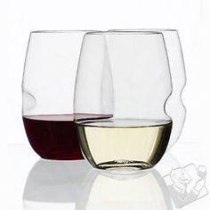 govino Stemless Shatterproof Wine Glasses at Wine Enthusiast - $12.95 (I don't drink, but I like the glass)