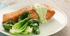 Have a quick healthy dinner tonight!  #VikingOutdoor Grilled Salmon with @Chobani Wasabi Sauce!