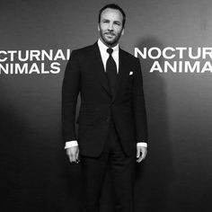Tom Ford at the New York City premiere of his movie, 'Nocturnal Animals'. Look Formal, Tom Ford Men, Single Men, Beard Styles, Mens Suits, The Man, Toms, Suit Jacket, Menswear