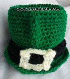 Free Crochet Pattern St Patricks Day Mini Crochet Leprechaun Hat