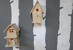 Wooden Birdhouse Nightlights