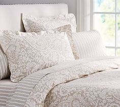 Theo Bedding Set - Brownstone #potterybarn. There are several very nice sets