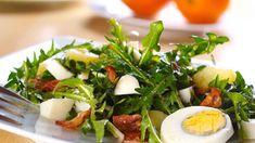 dandelion salad with egg