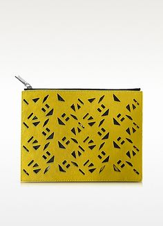 KENZO Flying Kenzo Miel Haircalf Pouch. #kenzo #bags #fur #pouch #accessories #