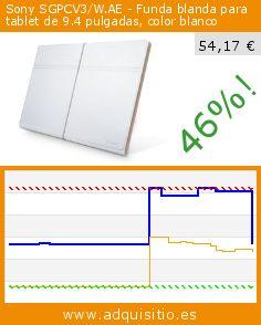 Sony SGPCV3/W.AE - Funda blanda para tablet de 9.4 pulgadas, color blanco (Accesorio). Baja 46%! Precio actual 54,17 €, el precio anterior fue de 100,96 €. http://www.adquisitio.es/sony/sgpcv3wae-funda-blanda
