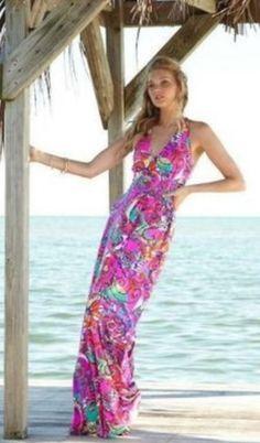 NWT Lilly Pulitzer Parrish Maxi Dress Sea and Be Seen sz Medium $198