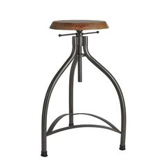 Our Cooper adjustable bar stool is available now- free delivery within the UK: http://www.industville.co.uk/collections/vintage-retro-industrial-metal-bar-stools/products/cooper-solid-oak-metal-adjustable-bar-stool