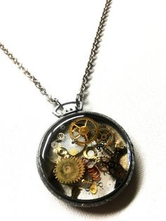 Resin steampunk steampunk pocket watch