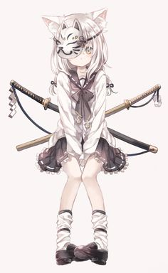 """""""Fl my account ( Hạnh Lee )to see more best pic about Anime"""" Lolis Neko, Anime Girl Neko, Chica Anime Manga, Otaku Anime, Anime Chibi, Manga Girl, Art Anime, Anime Artwork, Anime Art Girl"""