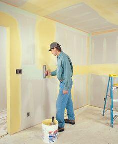 How to Repair Damaged Drywall Drywall Tape, Drywall Repair, Drywall Finishing, Home Fix, Diy Home Repair, Remodeling Mobile Homes, Home Repairs, Diy Home Improvement, Basement Remodeling