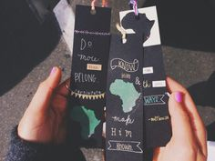 """lorraraine: """" I got my shirt and bookmarks today from my friend Wendy! She's selling these custom handmade shirts to help raise money for her mission trip to Swaziland. I love them so much!! """""""