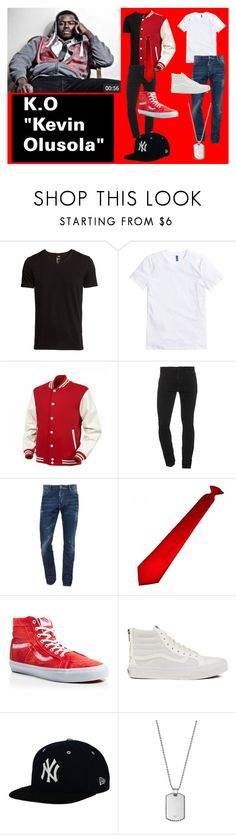 """""""Kevin """"K.O."""" Olusola"""" by klb12-love on Polyvore featuring H&M, Dsquared2, Vans, New Era and Giorgio Armani"""