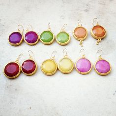 Colorful bold earrings