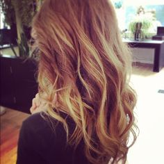 Natural strawberry blonde ombre balayage