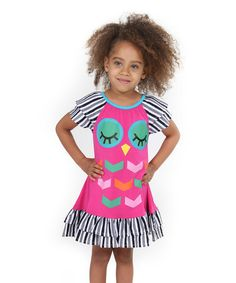 Look what I found on #zulily! Pink Woodland Friends Owl Dress - Kids & Tween #zulilyfinds