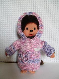 Habit pour Kiki 20 cm peignoir rose et mauve Mauve, Monkey, Crochet Hats, Etsy, Plushies, Miniatures, Baby Bunnies, Teddy Bear, Softies