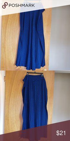 b800e2c7a9e Women s Stripped Blue   Black Maxi Skirt Women s blue and black Stripped maxi  skirt. AGB