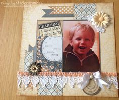 Layout with Teresa Collins by MsScrapmess - Cards and Paper Crafts at Splitcoaststampers Teresa Collins, Creative Inspiration, Paper Crafts, Scrapbook Layouts, Frame, Cards, Design, Home Decor, Homemade Home Decor