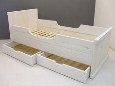 Kinderbed steigerhout met whitewash (128090300KWHW)