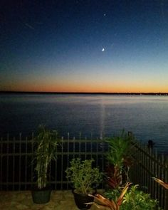 Day Fades Into Night Over Lake Champlain and Rouses Point