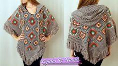 Poncho Tejido a Crochet a la moda. Suscribete a mi Canal Tags ponchos a crochet ponchos en crochet tejidos 2015 aprende a tejer nuevos diseños de crochet pon...