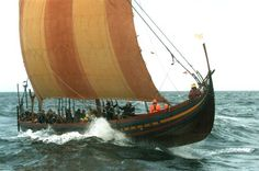 Havhingsten - The worlds biggest Viking ship ever found and made replica, in Denmark, sailing every summer now.