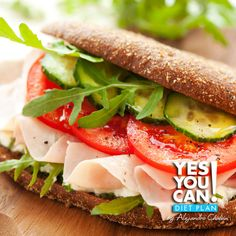 Turkey Ham Sandwich - A healthy option for your Yes You Can! Diet Plan snack