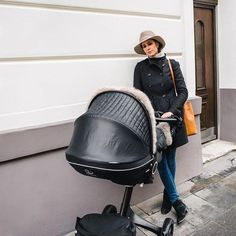 Stokke Xplory True Black Stroller with Onyx Black Winter Kit – A perfect chic pairing! via blogger Shop Le Monde