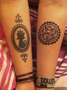 I don't know Black Butler, but if you were going to get gothicky tattoos, these are pretty interesting.