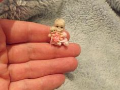 Miniature handmade MINI TINY TOY BABY GIRL DOLLY  MICRO DOLL ooak DOLLHOUSE