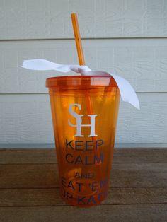 Sam Houston - Keep Calm and Eat 'Em Up Kats on Etsy, $10.50
