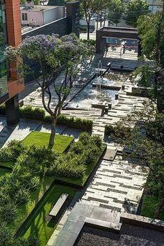 """afotw: """" Paisagismo no Campus Corporativo Coyoacán / DLC Arquitectos + Colonnier y. Villa Architecture, Landscape Architecture Design, Landscape Plans, Urban Landscape, Landscaping Supplies, Modern Landscaping, Backyard Landscaping, Landscaping Ideas, Paving Ideas"""
