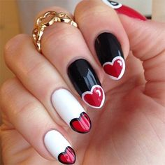 Red Hearts Nails
