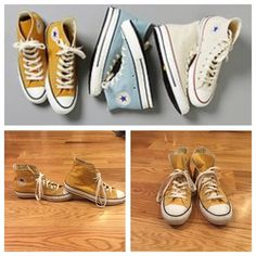 Mustard Yellow High Tops Mustard Yellow Converse High Tops. A little dirty, but in good condition. Size 10. Feel free to ask any questions below or make me an offer. Converse Shoes Sneakers
