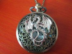 dragons/time/art in antique silver dragon hollowout pocket watchgift box by HelloDIY, via Etsy. Cute Jewelry, Jewelry Accessories, Jewelry Design, Jewlery, Antique Jewelry, Antique Silver, Vintage Jewelry, Dragon Jewelry, Silver Dragon